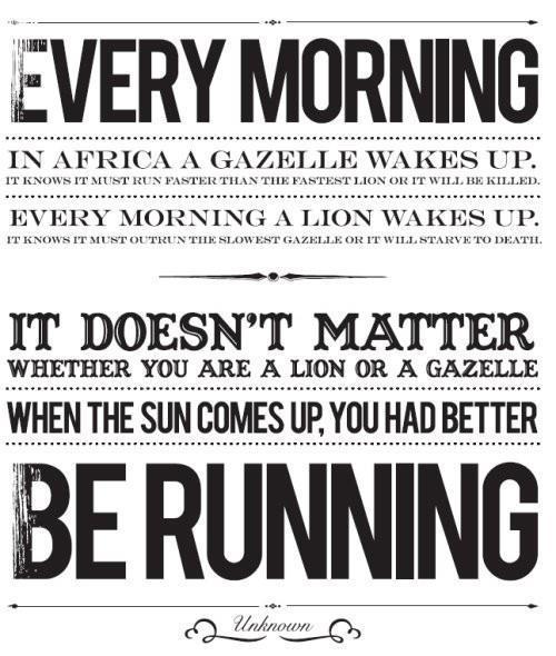 Be Running