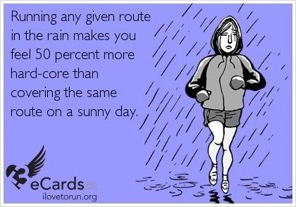 run in the rain