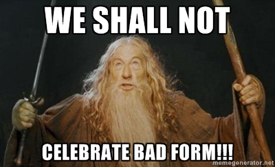 Gandalf will not allow it. Neither will any coach worth their salt.